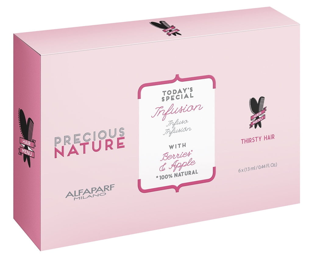 Ampola Leave in Precious Nature Alfaparf 13ml Thirsty Hair c/6un