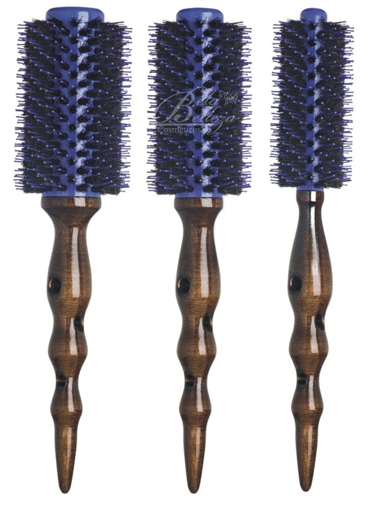 Escova de Cabelo Vertix Woodporcupine Cerdas Naturais c/3un