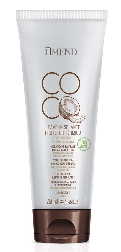 Leave in Amend Coco Protetor Termico Selante 250g Vegano