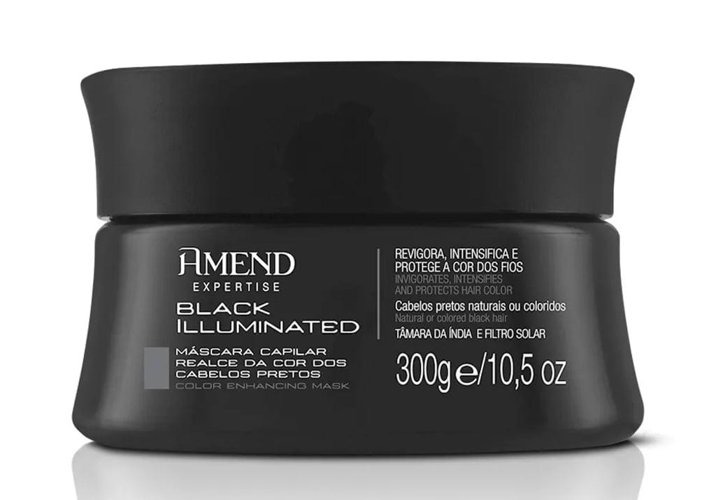 Mascara Matizadora Amend Black Illuminated 300g Cabelos Pretos