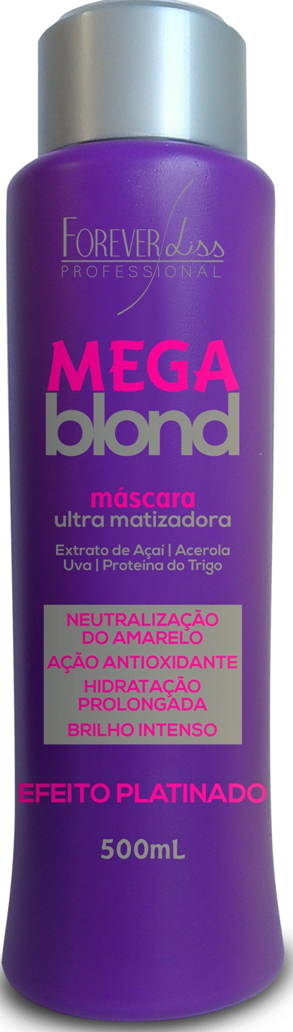 Mascara Matizadora Mega Blond Forever Liss 500ml Black