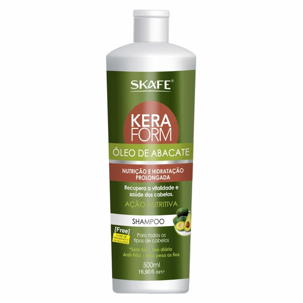 Shampoo Keraform Skafe Oleo de Abacate 500ml Nutritivo