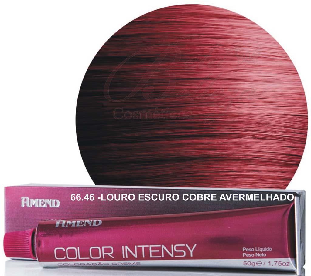 Tinta Amend Color Intensy 50g 66.46 Louro Escuro Cobre Avermelhado Intenso (Cereja)