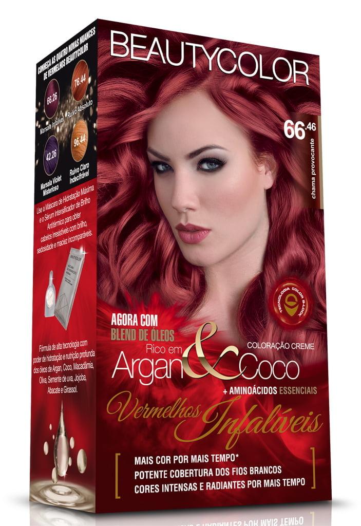 Tinta Beauty Color Vermelhos Infaliveis Kit 66.46 Chama Provocante