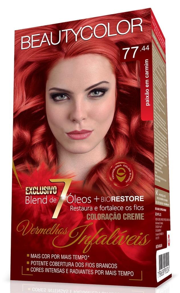 Tinta Beauty Color Vermelhos Infaliveis Kit 77.44 Paixao em Carmim