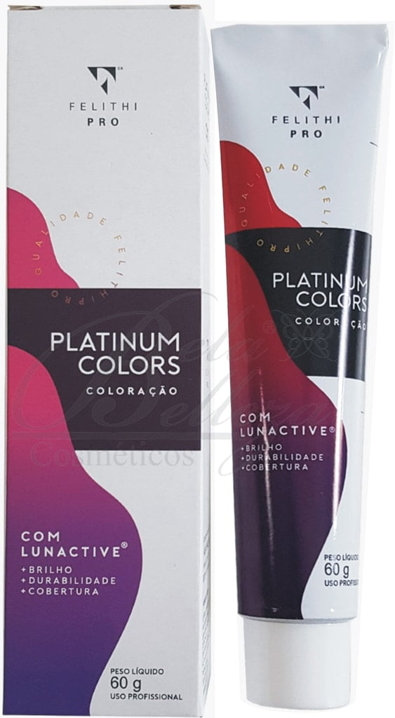 Tinta Platinum Colors Felithi 60g 7.7 Chocolate Medio