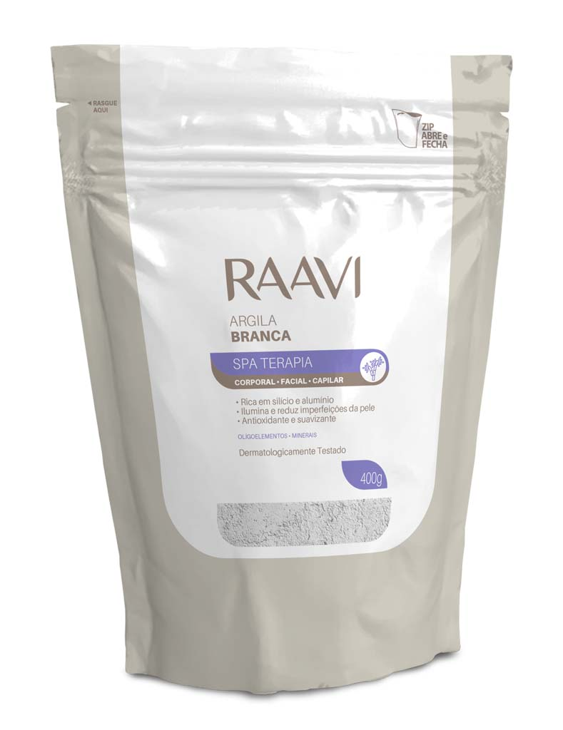 Argila Branca SPA Terapia Raavi 400g Corporal Facial Capilar