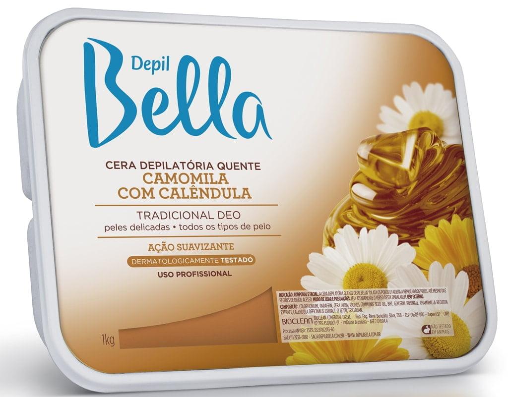 Cera Depil Bella 1Kg Algas com Menta