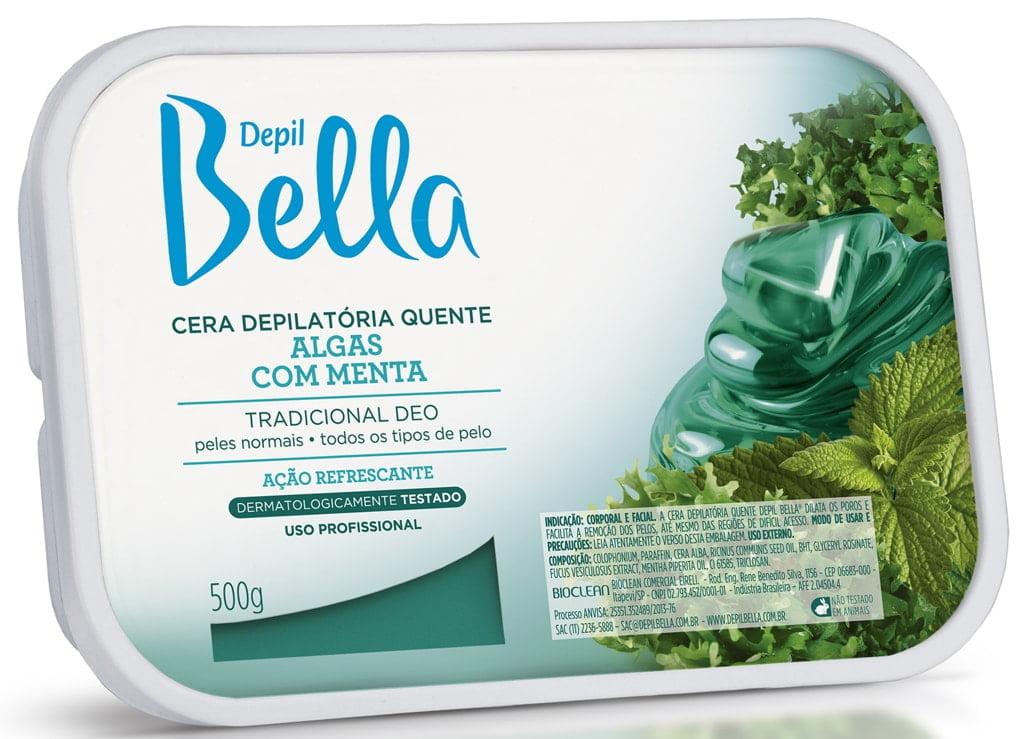 Cera Depil Bella 500g Algas com Menta