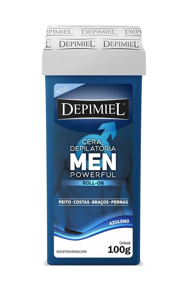 Cera Depimiel Roll-on Men Powerful Azuleno 100g