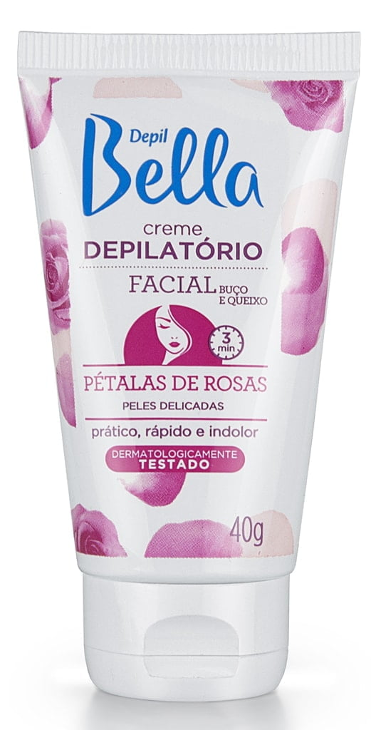 Creme Depilatorio Facial Depil Bella 40g Pétalas de Rosas