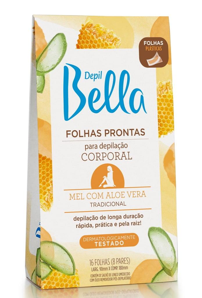 Folhas Prontas Corporal Depil Bella Mel com Aloe Vera