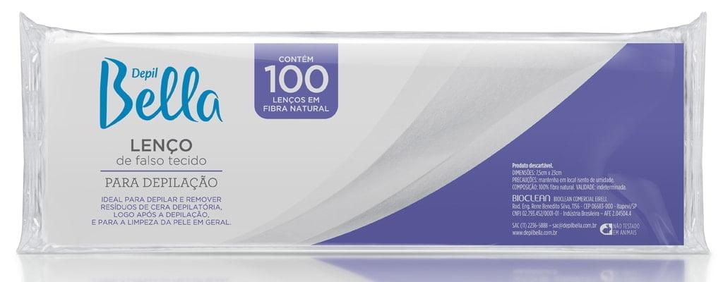 Papel para depilação Depil Bella 100un Lenço de Falso Tecido