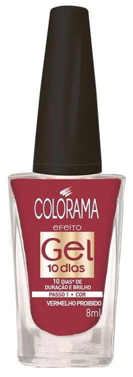 Esmalte Colorama Gel 10 dias Vermelho Proibido