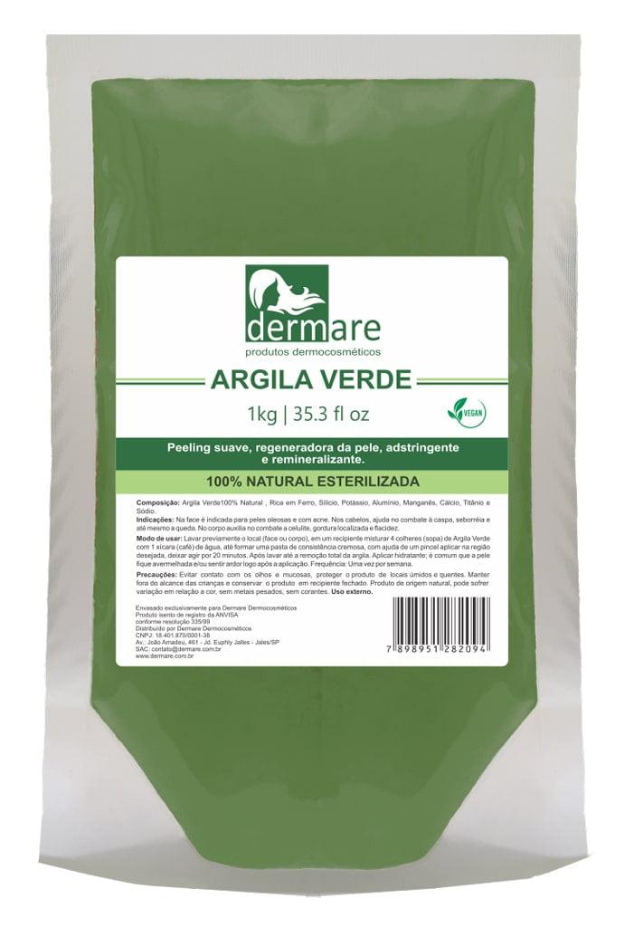Argila Verde Dermare Facial Corporal Capilar 1kg