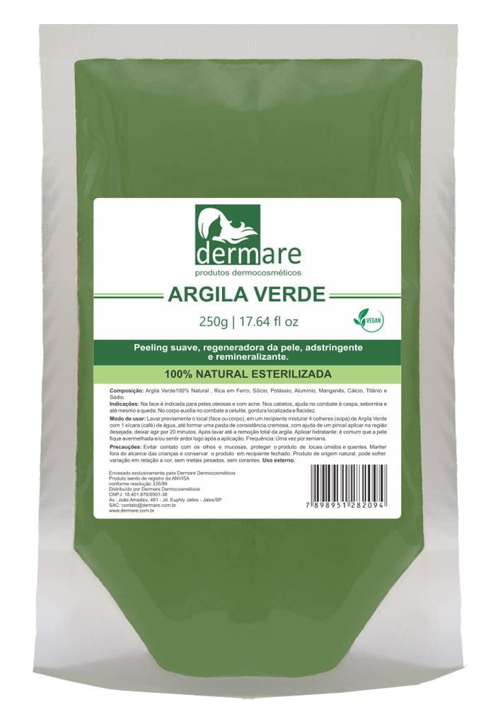 Argila Verde Dermare Facial Corporal Capilar 250g