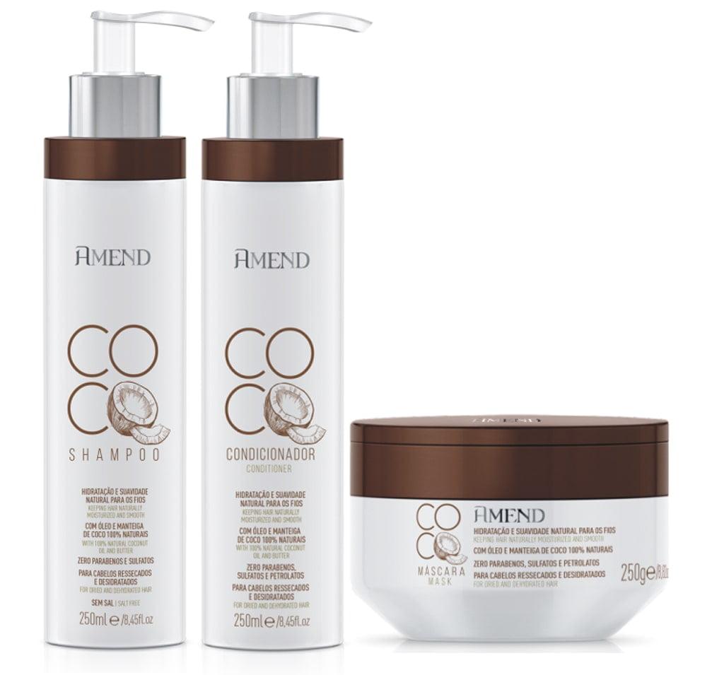 Amend Coco Hidratacao Completa Kit Shampoo Condicionador Mascara