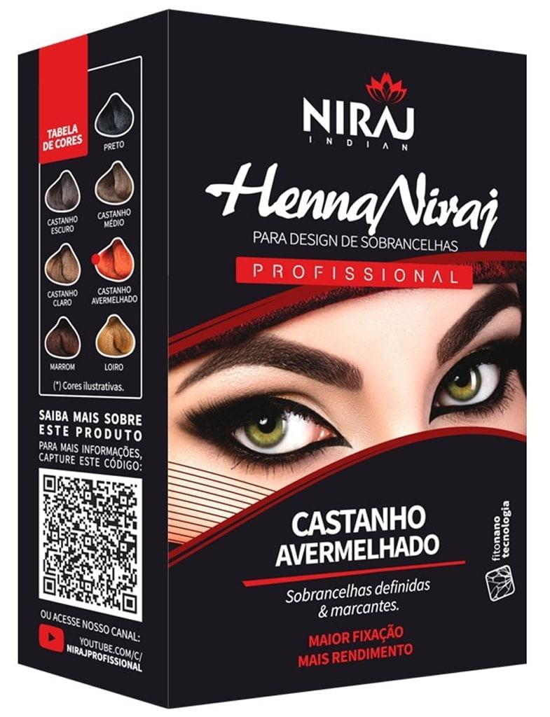 Henna para Sobrancelhas Niraj Castanho Avermelhado