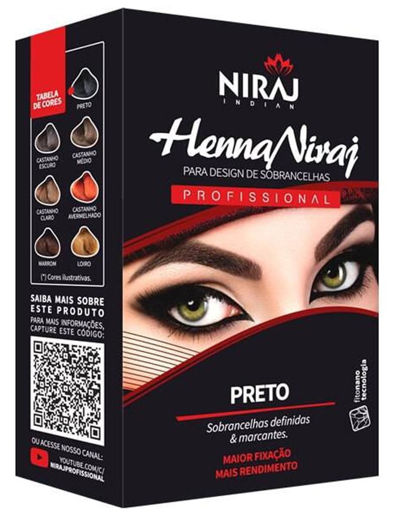 Henna para Sobrancelhas Niraj Preto