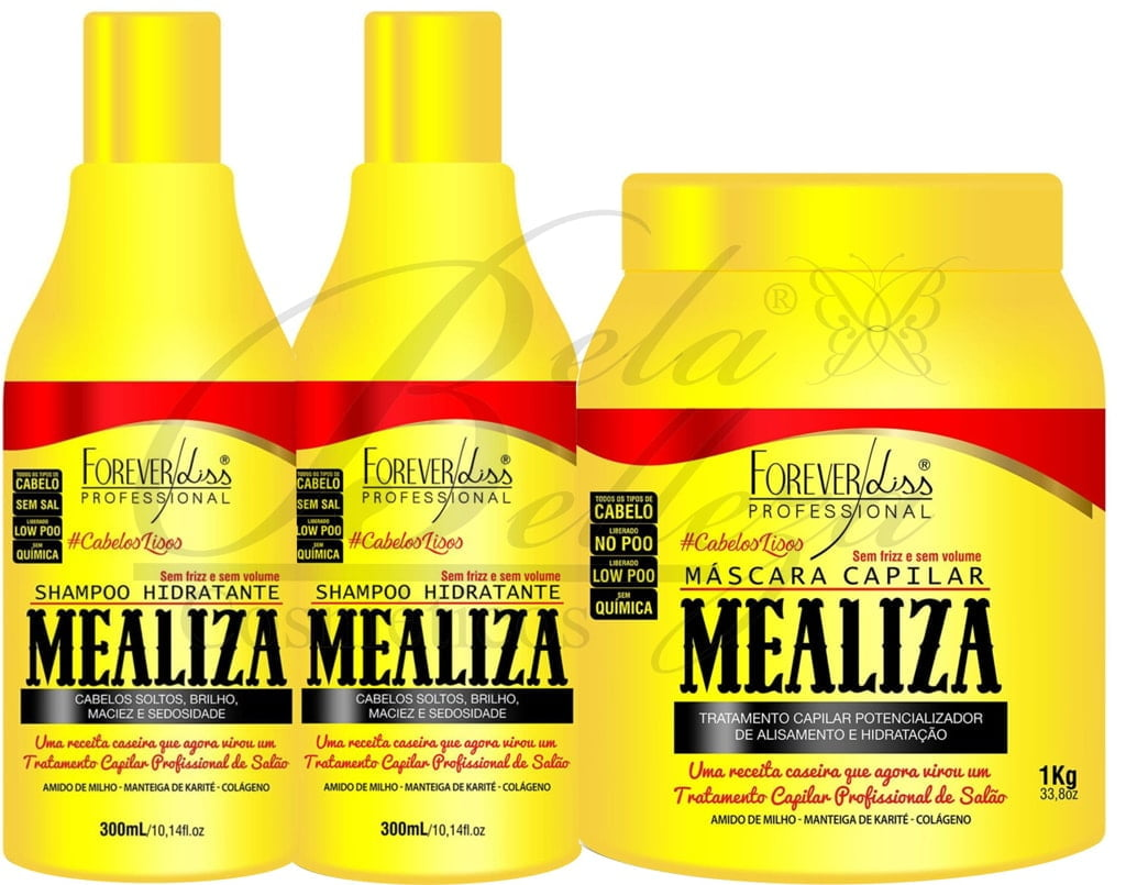 Kit Alisante e Hidratante Mealiza Forever Liss Profissional