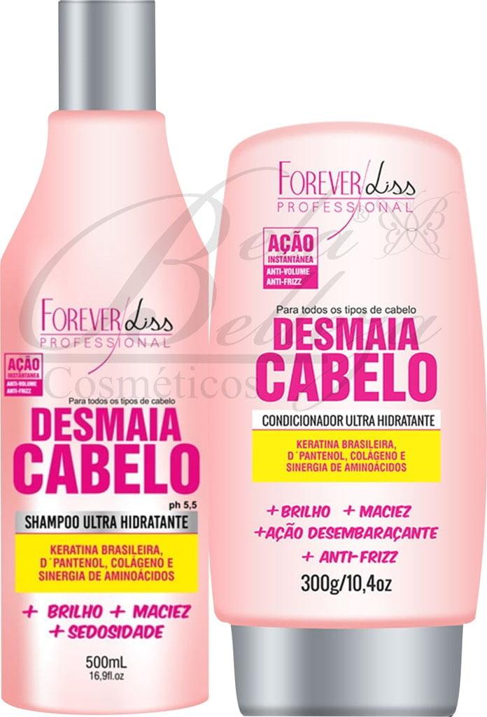 Kit Duo Desmaia Cabelo Forever Liss Shampoo e Condicionador