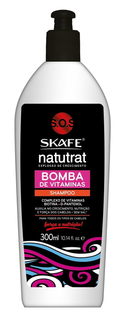 Shampoo Natutrat Skafe 300ml Bomba de Vitaminas