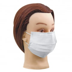 Mascara Descartavel Vilty Care Dupla com Elastico Branca c/12un