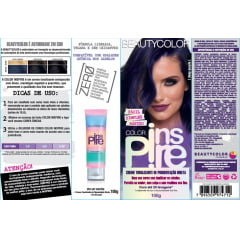Creme Tonalizante Color Inspire BeautyColor Deep Purple 100g Roxo