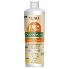 Shampoo Keraform Skafe Oleo de Ricino 500ml Antiressecamento