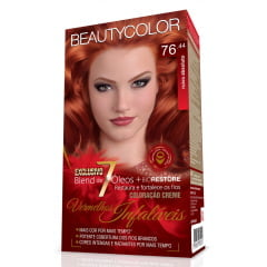 Tinta Beauty Color Vermelhos Infalíveis Kit 76.44 Ruivo Absoluto