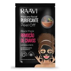 Máscara Preta Removedora de Cravos Raavi 8g Black Mask Peel Off