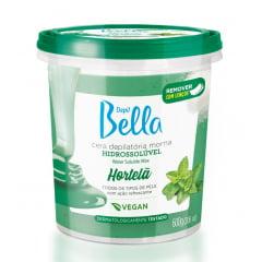 Cera Depil Bella Hidrossoluvel 600g Hortela Vegana