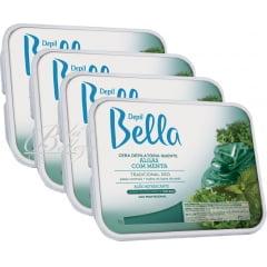 Cera Depil Bella Quente Algas com Menta com 4kg