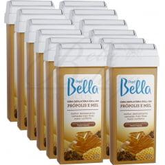 Cera Depil Bella Roll-on 100g Própolis e Mel (12un x 100g)