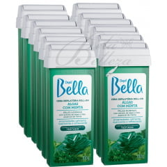 Cera Depil Bella Roll-on 100g Algas com Menta (12un x 100g)