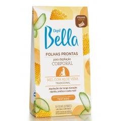 Folhas Prontas Corporal Depil Bella Mel com Aloe Vera 8 pares