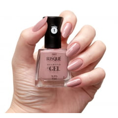 Esmalte Risque Diamond Gel Sal Rosa