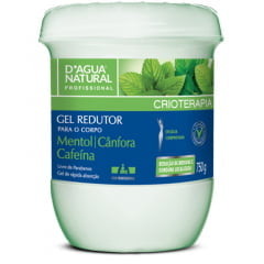 Gel Redutor D'Agua Natural 750g Verde Cafeina