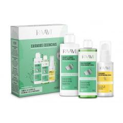 Kit Facial Cuidados Essenciais Raavi Sabonete + Tonico + Hidratante