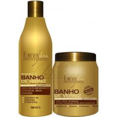 Kit Banho de Verniz Forever Liss Kit Shampoo e Mascara