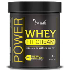 Máscara Whey Fit Cream Yenzah 1kg Power Potência Capilar
